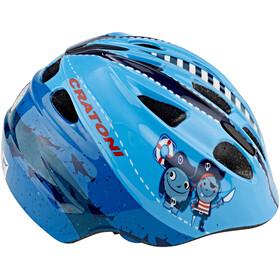 Cratoni Akino Fahrradhelm Kids pirat blau glanz